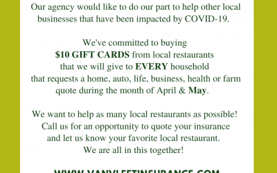 $10 GIFT CARD FOR EVERY NEW QUOTE