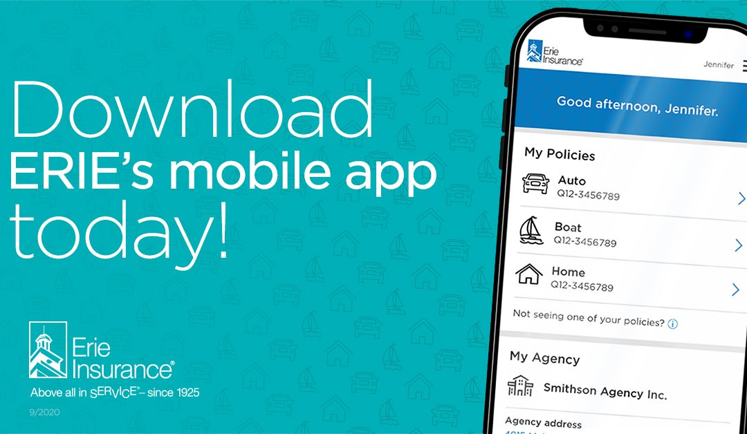 Introducing Erie Insurance's NEW mobile app!