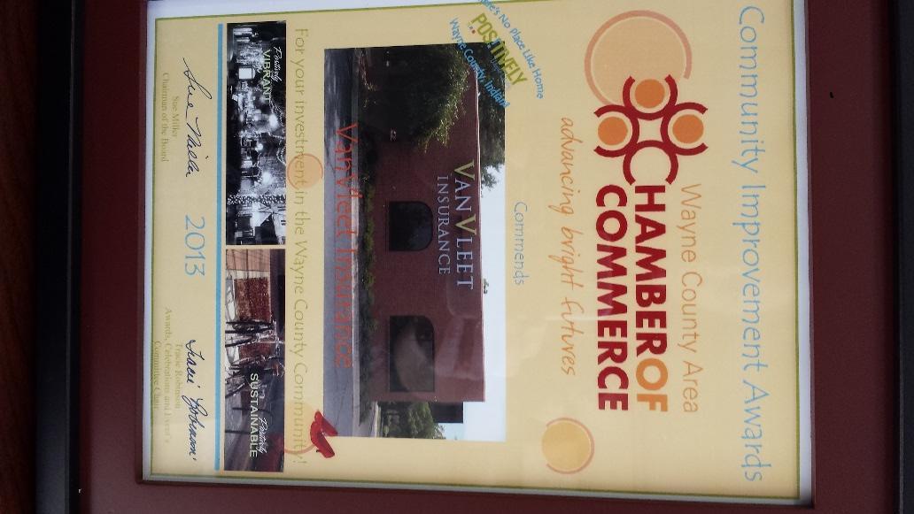 VanVleet Insurance Awarded Honorable Mention