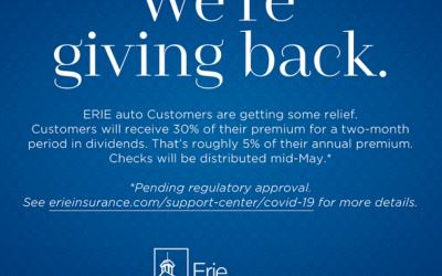 ERIE Broadens Relief Package to Customers