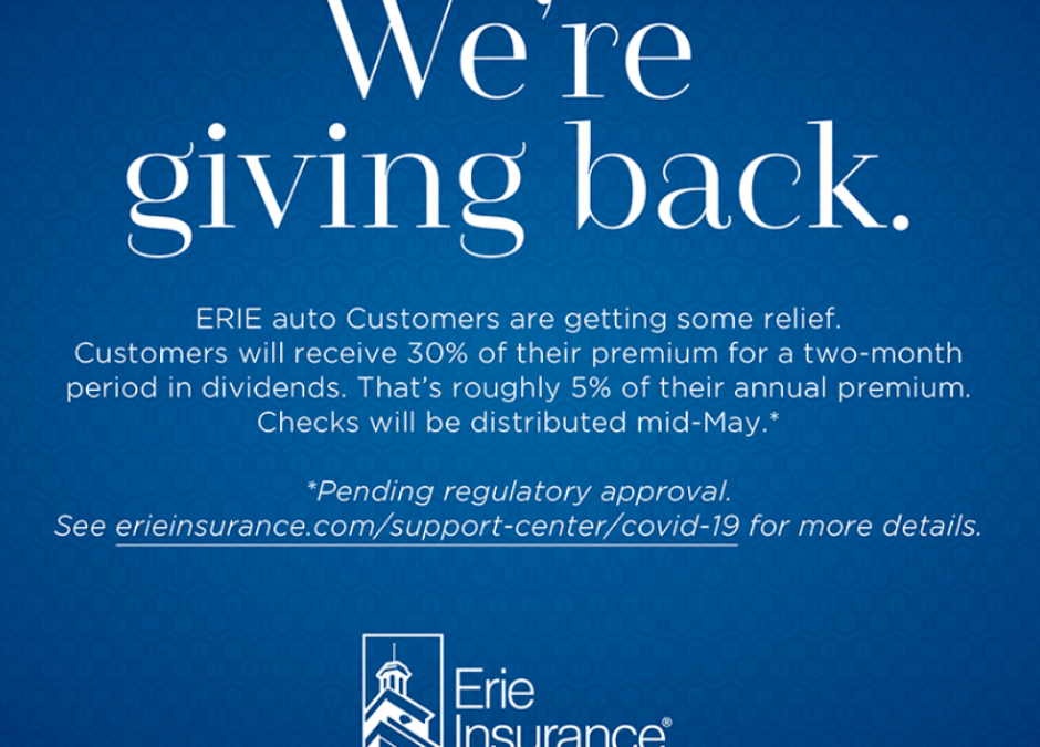 ERIE Broadens Relief Package to Customers
