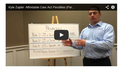 Kyle Zajdel Explains Affordable Care Act Penalties