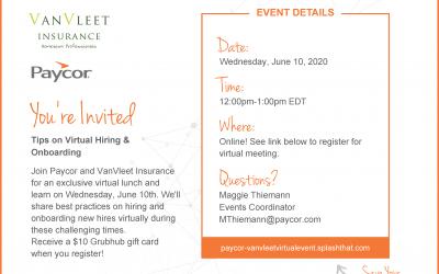 VanVleet Virtual Event- Tips on Virtual Hiring & Onboarding